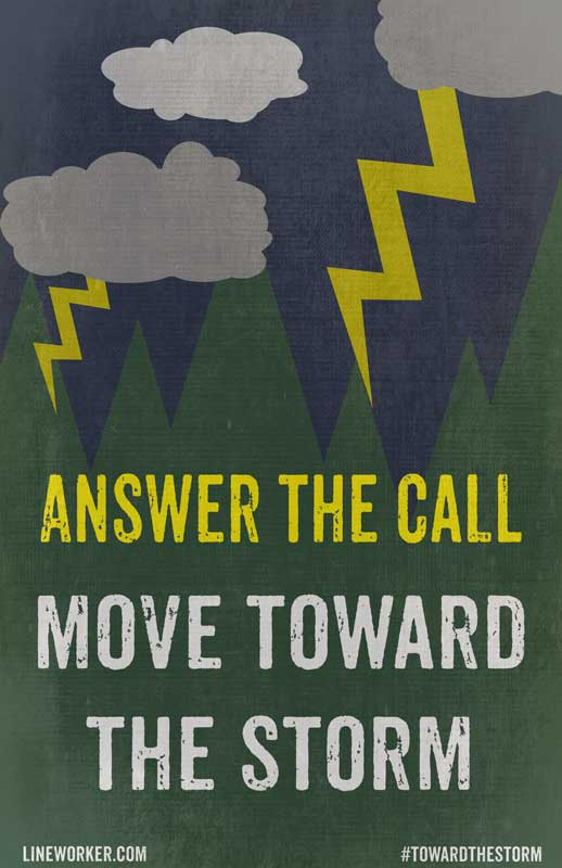 Toward The Storm Propaganda Poster